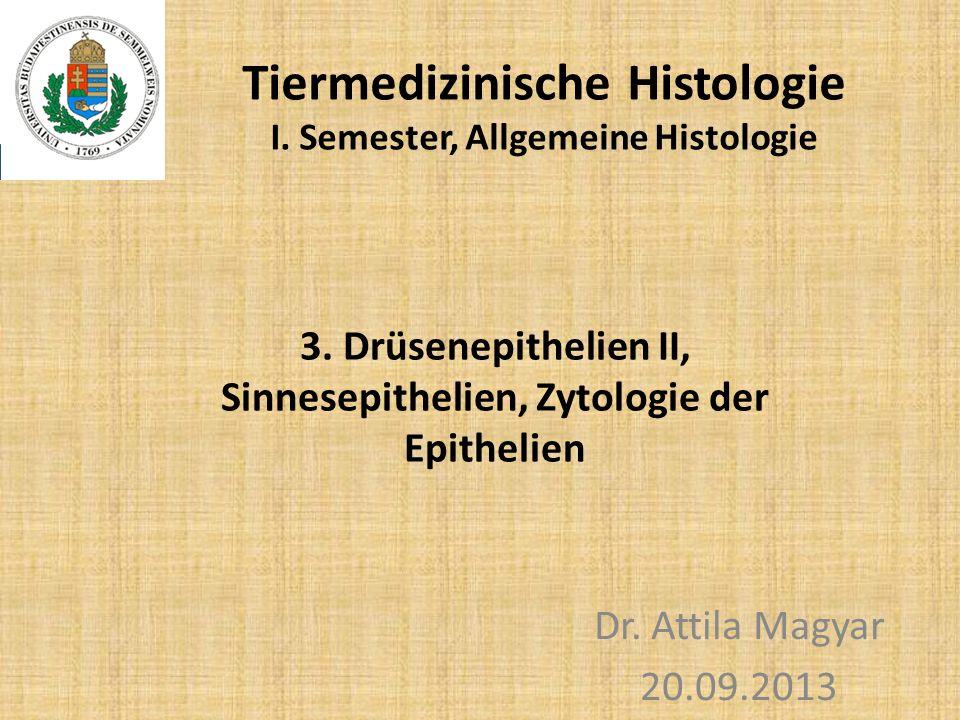 Tiermedizinische Histologie I. Semester, Allgemeine Histologie