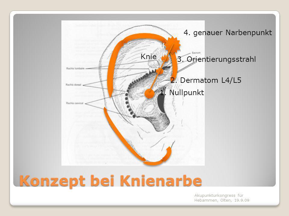 Konzept bei Knienarbe 4. genauer Narbenpunkt Knie