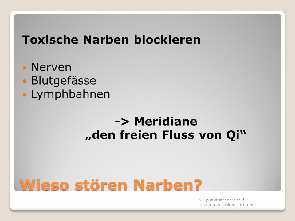 Wieso stören Narben Toxische Narben blockieren Nerven Blutgefässe