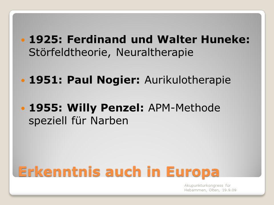 Erkenntnis auch in Europa