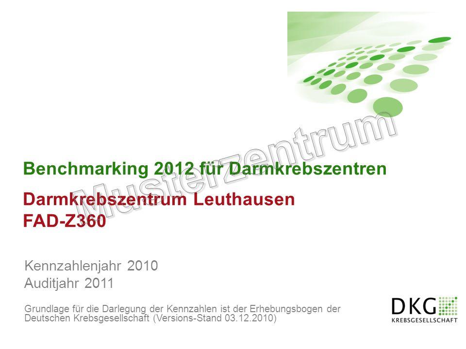 Musterzentrum Benchmarking 2012 für Darmkrebszentren FAD-Z360