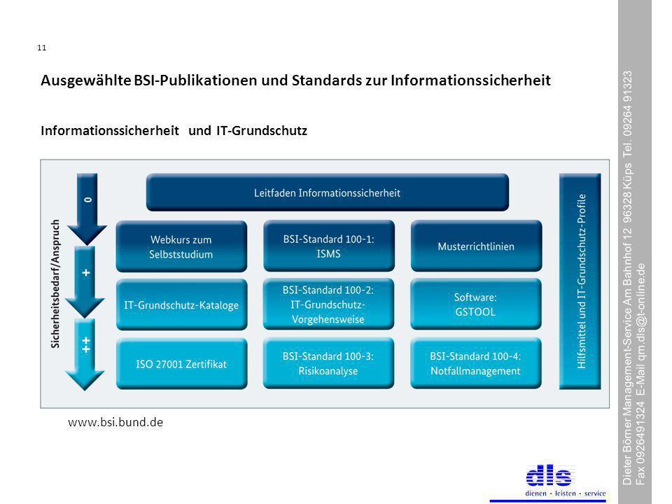 Ausgewählte BSI-Publikationen und Standards zur Informationssicherheit