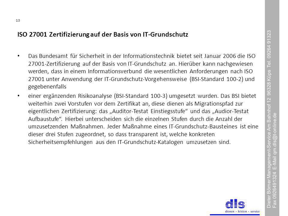 ISO 27001 Zertifizierung auf der Basis von IT-Grundschutz