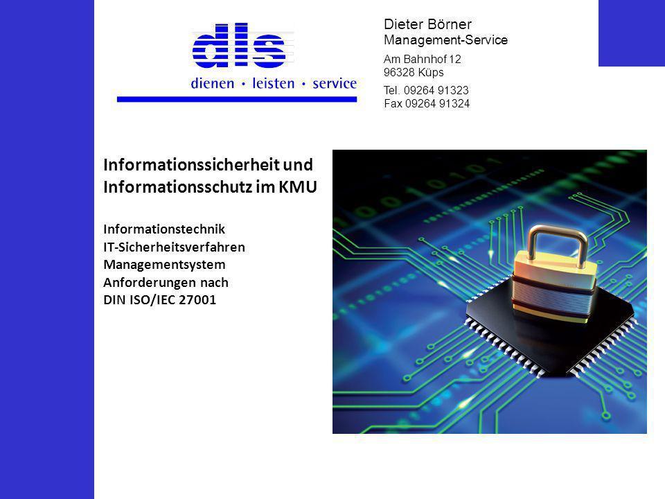 Informationssicherheit und Informationsschutz im KMU