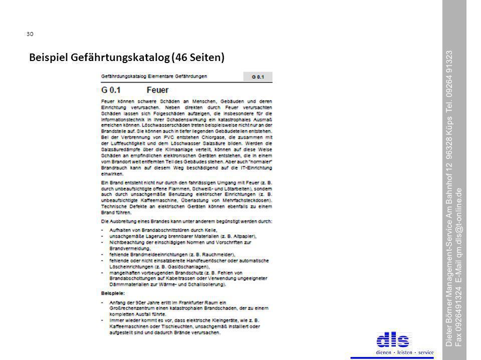 Beispiel Gefährtungskatalog (46 Seiten)