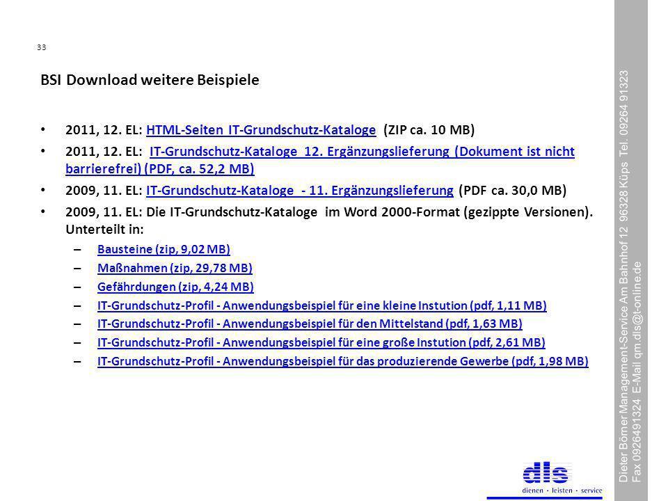 BSI Download weitere Beispiele