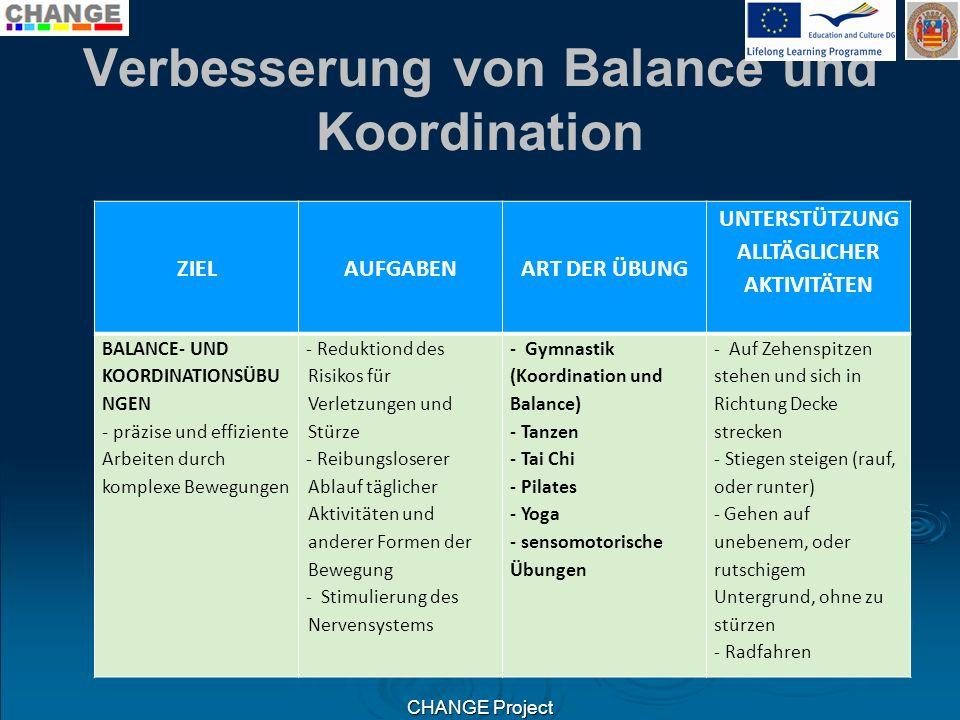 Verbesserung von Balance und Koordination