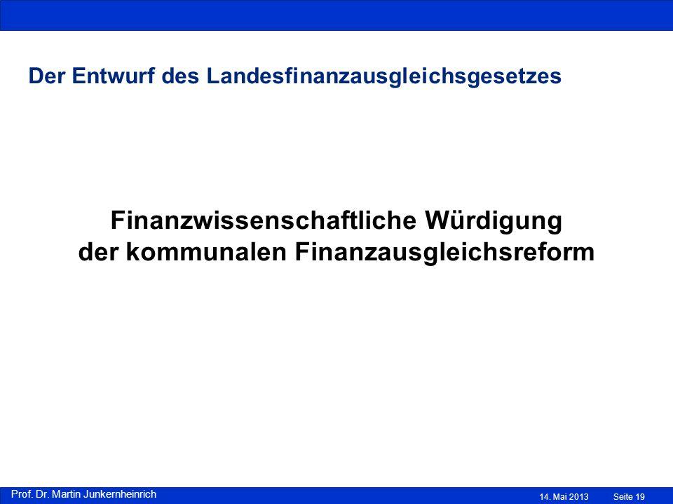 Der Entwurf des Landesfinanzausgleichsgesetzes