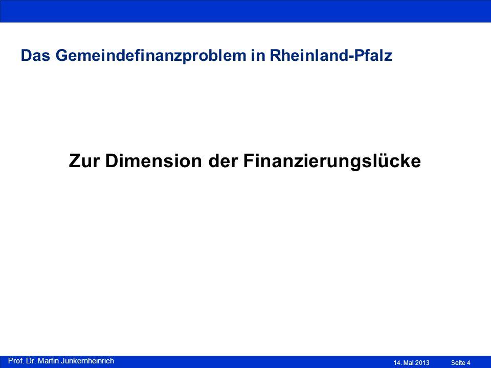 Das Gemeindefinanzproblem in Rheinland-Pfalz