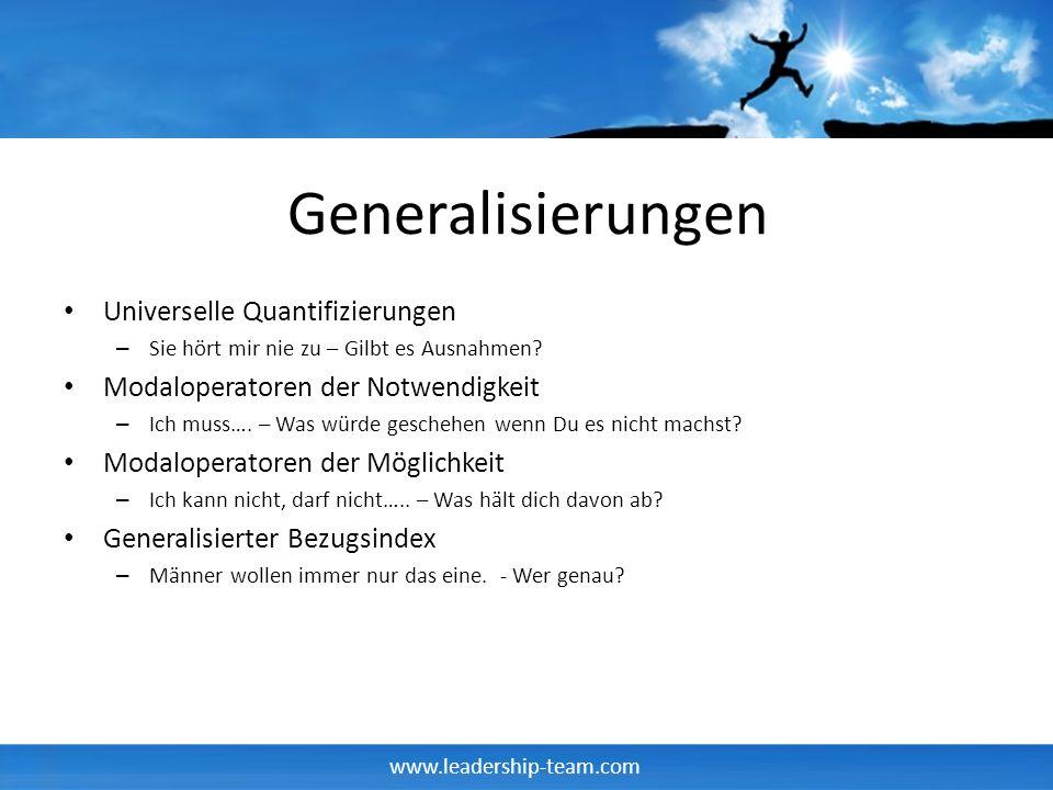 Generalisierungen Universelle Quantifizierungen