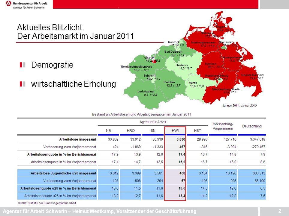 Aktuelles Blitzlicht: Der Arbeitsmarkt im Januar 2011