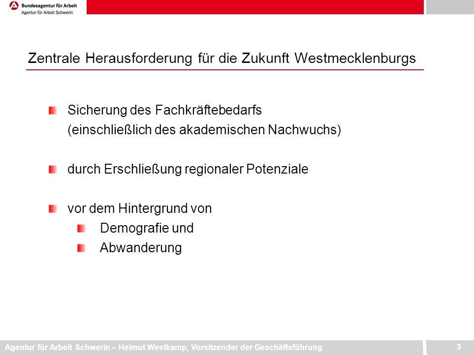 Zentrale Herausforderung für die Zukunft Westmecklenburgs