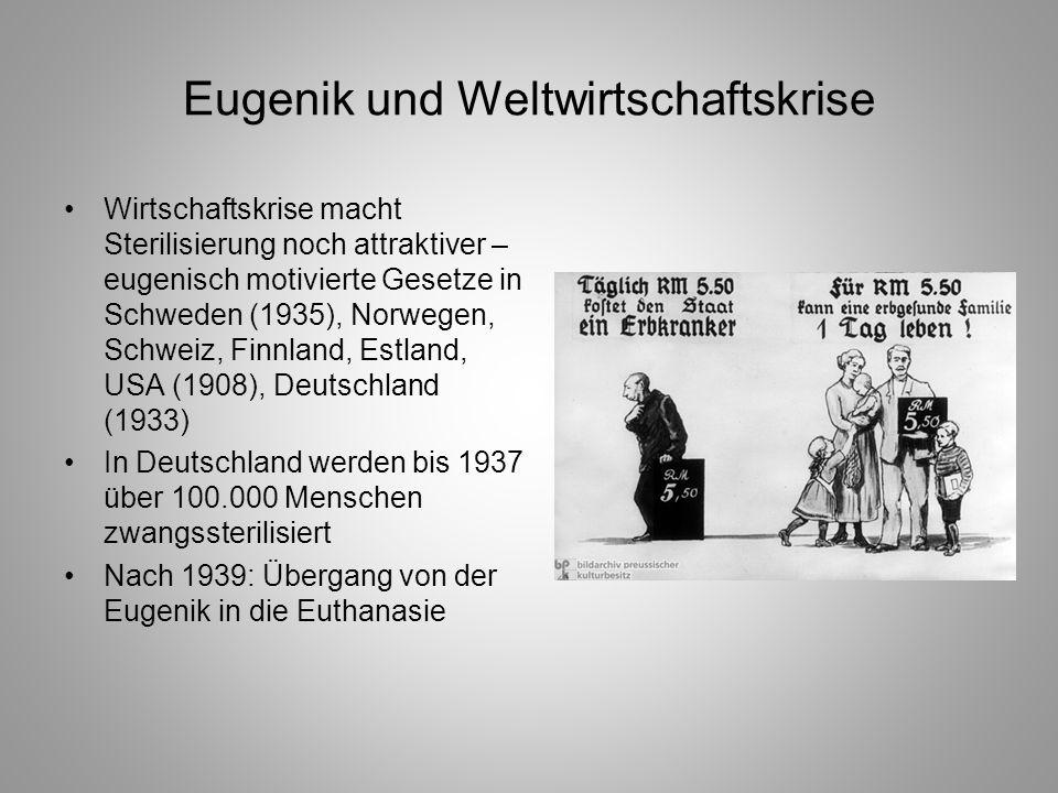 Eugenik und Weltwirtschaftskrise