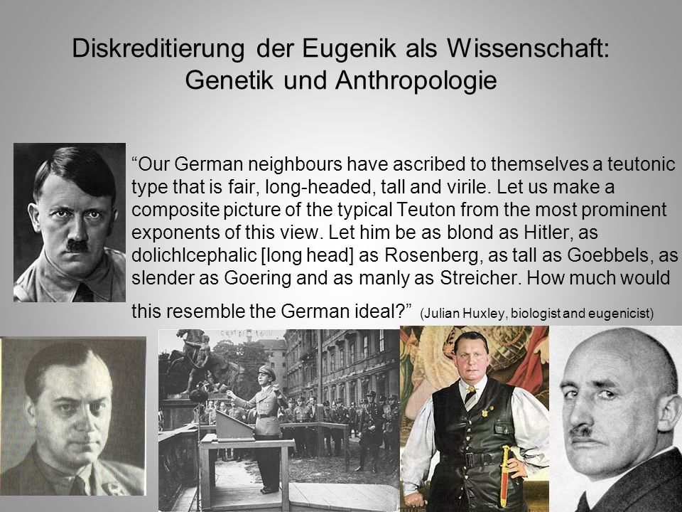 Diskreditierung der Eugenik als Wissenschaft: Genetik und Anthropologie