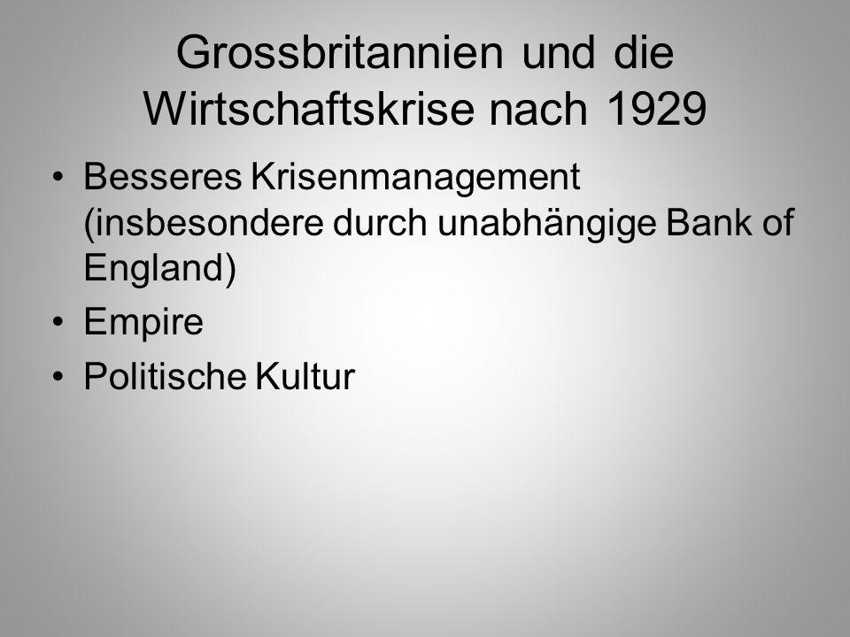 Grossbritannien und die Wirtschaftskrise nach 1929