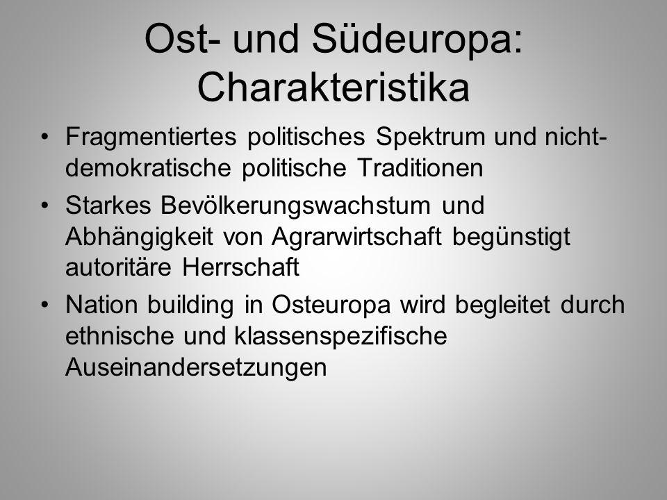 Ost- und Südeuropa: Charakteristika
