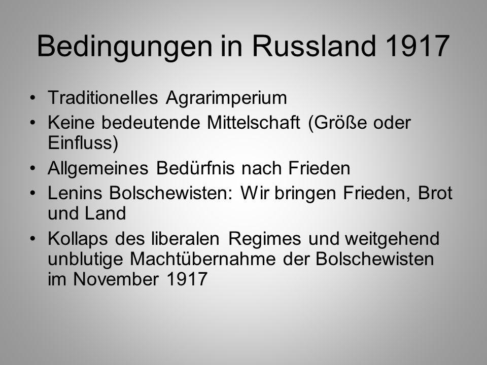 Bedingungen in Russland 1917