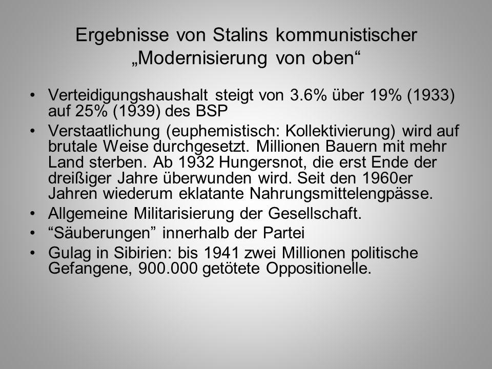"""Ergebnisse von Stalins kommunistischer """"Modernisierung von oben"""