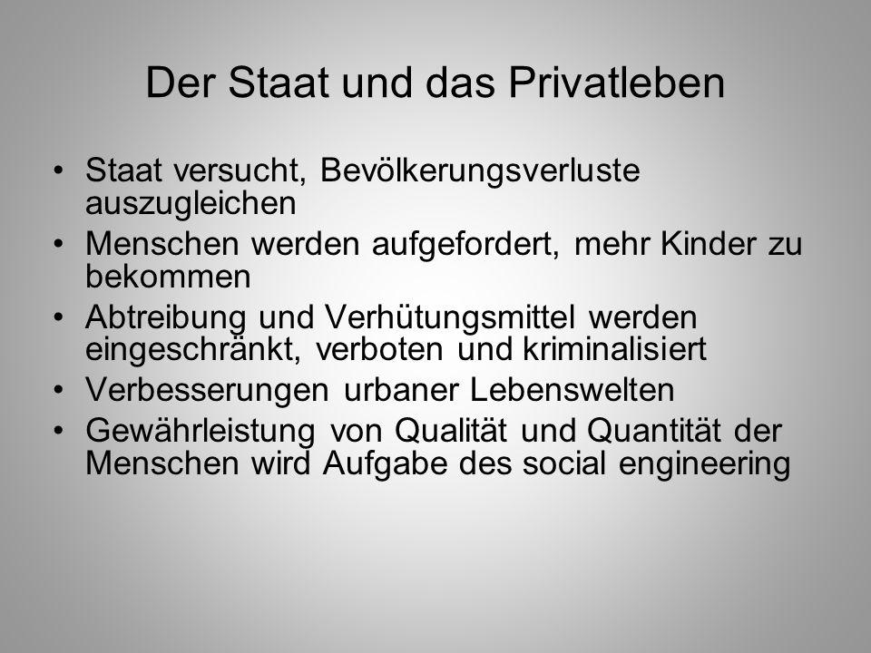 Der Staat und das Privatleben