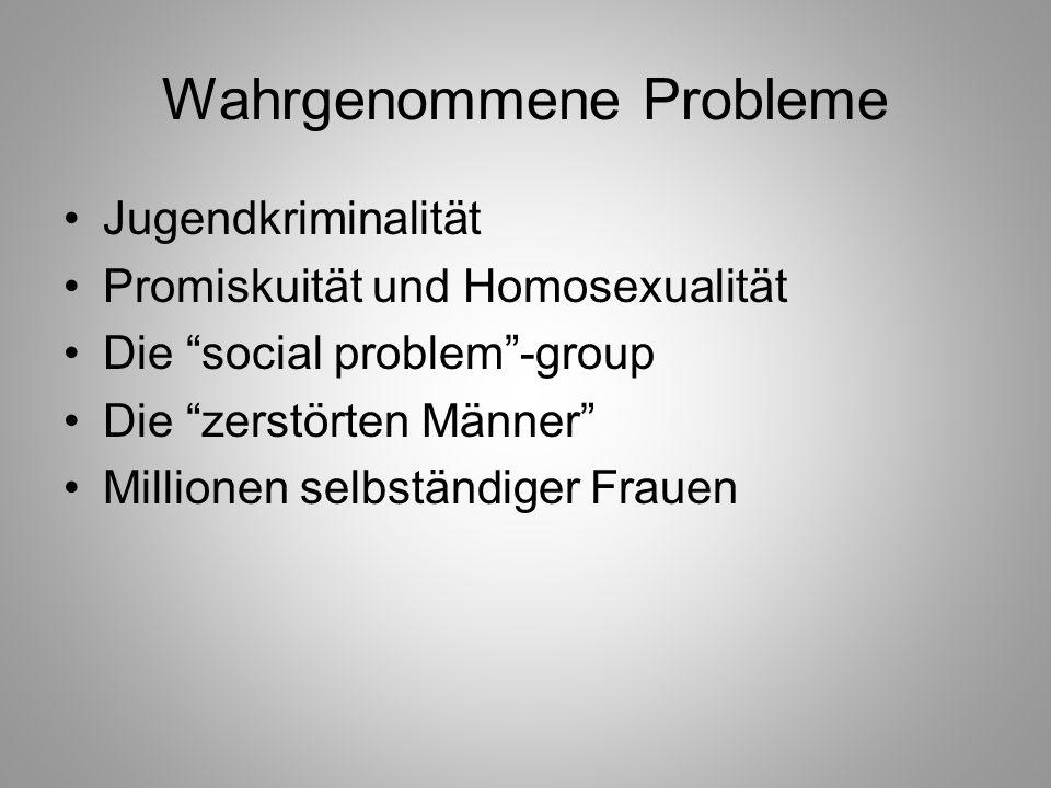 Wahrgenommene Probleme