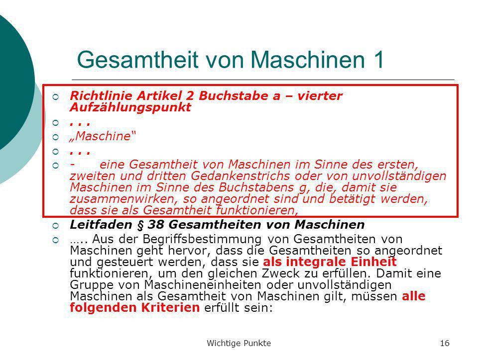 Gesamtheit von Maschinen 1