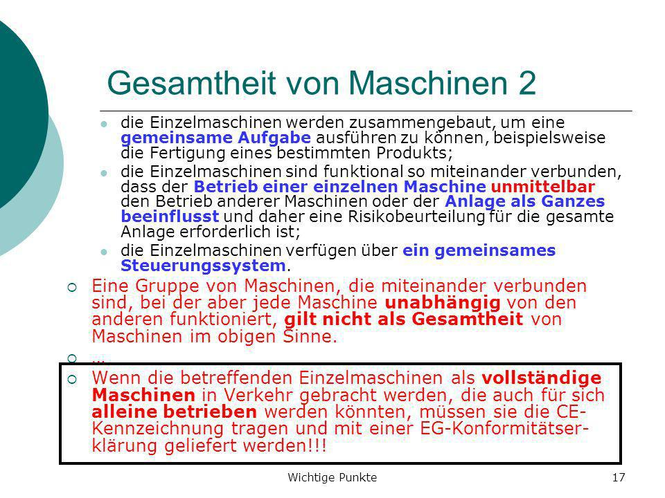 Gesamtheit von Maschinen 2