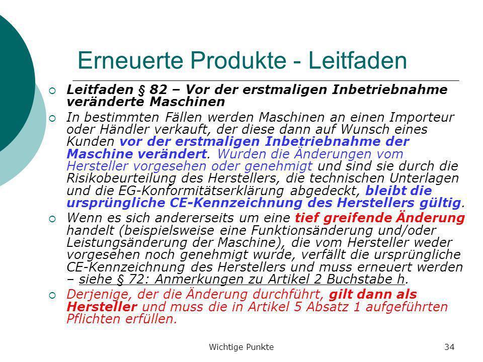 Erneuerte Produkte - Leitfaden
