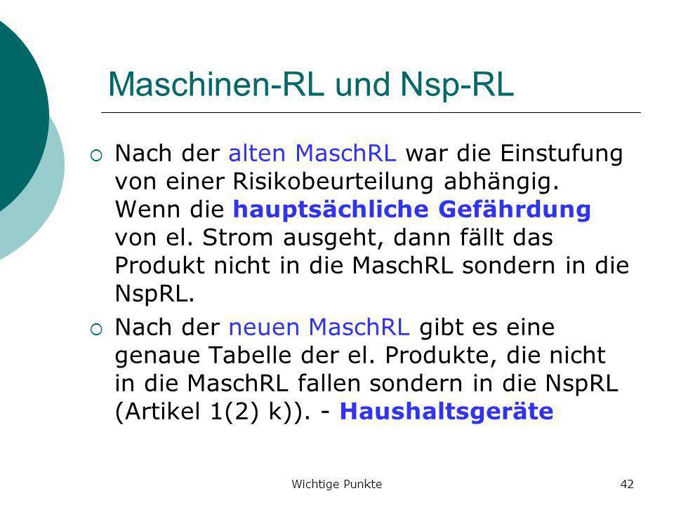 Maschinen-RL und Nsp-RL