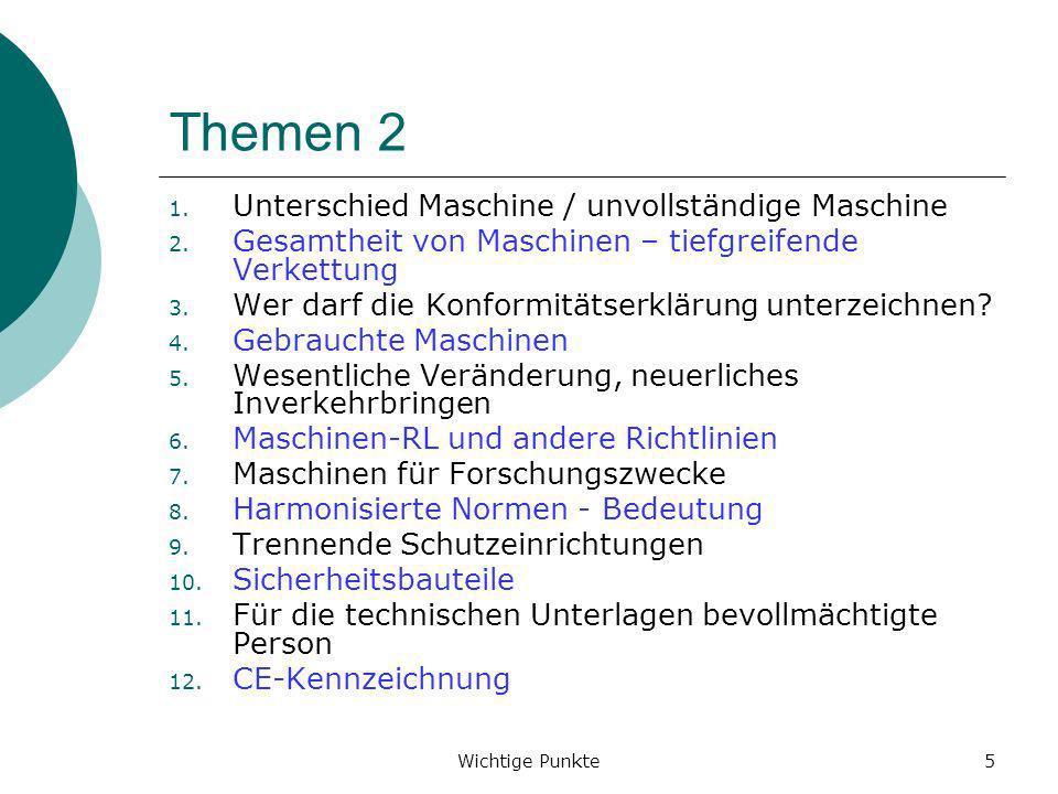 Themen 2 Unterschied Maschine / unvollständige Maschine