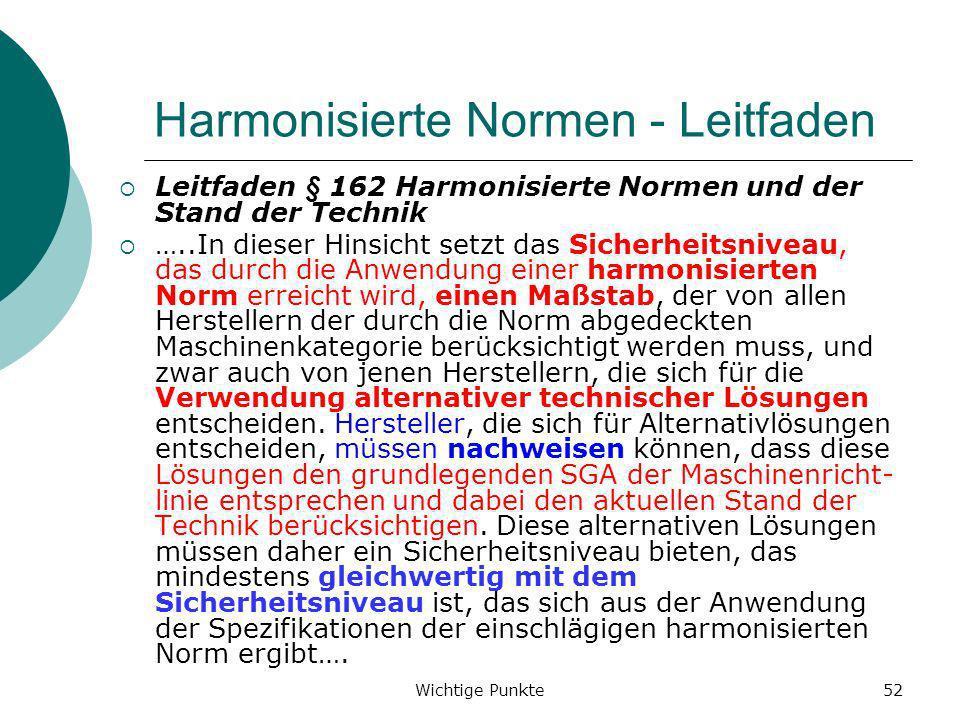 Harmonisierte Normen - Leitfaden