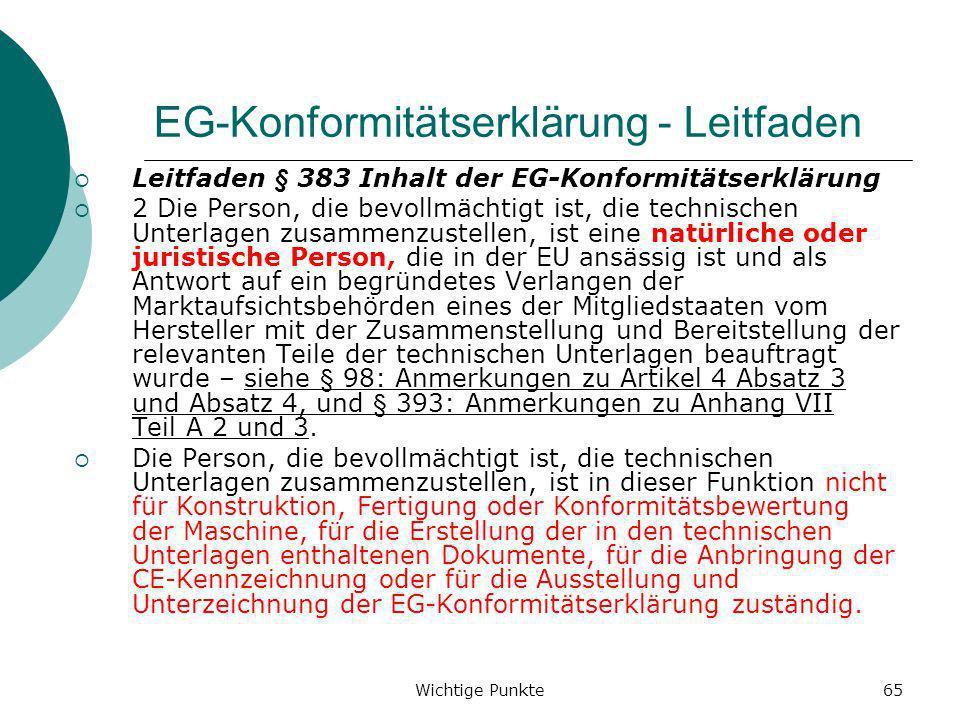 EG-Konformitätserklärung - Leitfaden