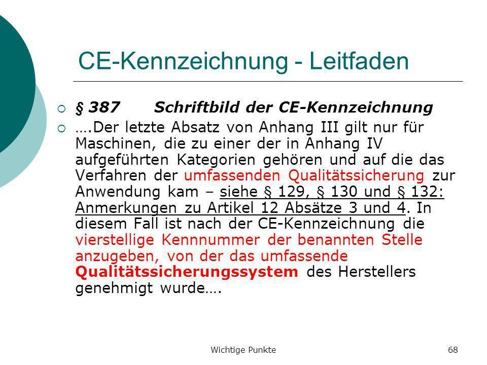 CE-Kennzeichnung - Leitfaden