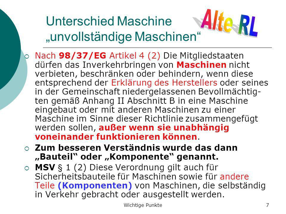 """Unterschied Maschine """"unvollständige Maschinen"""