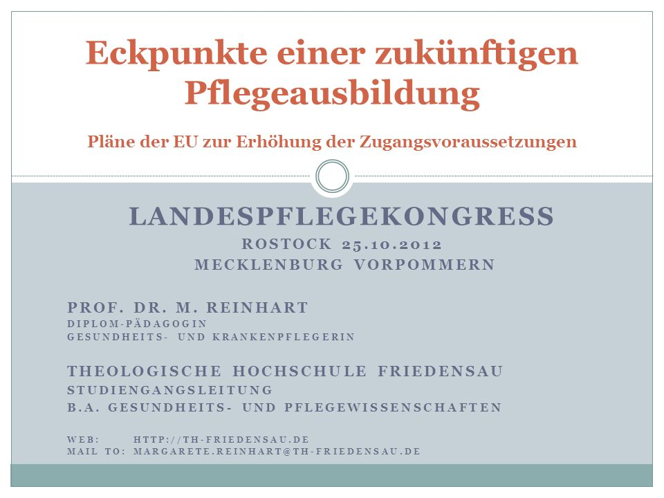 Landespflegekongress Mecklenburg Vorpommern
