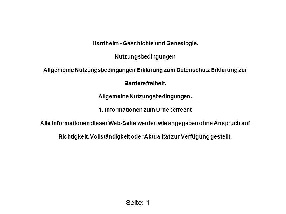 Hardheim - Geschichte und Genealogie