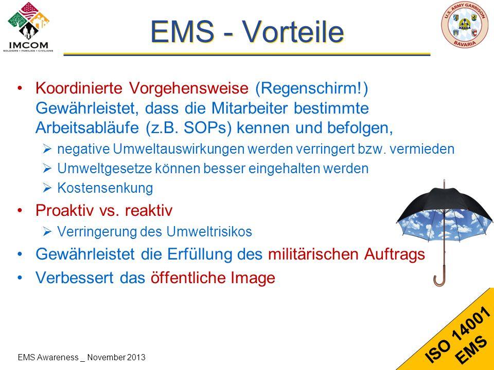 EMS - Vorteile