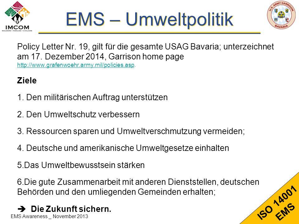 EMS – Umweltpolitik