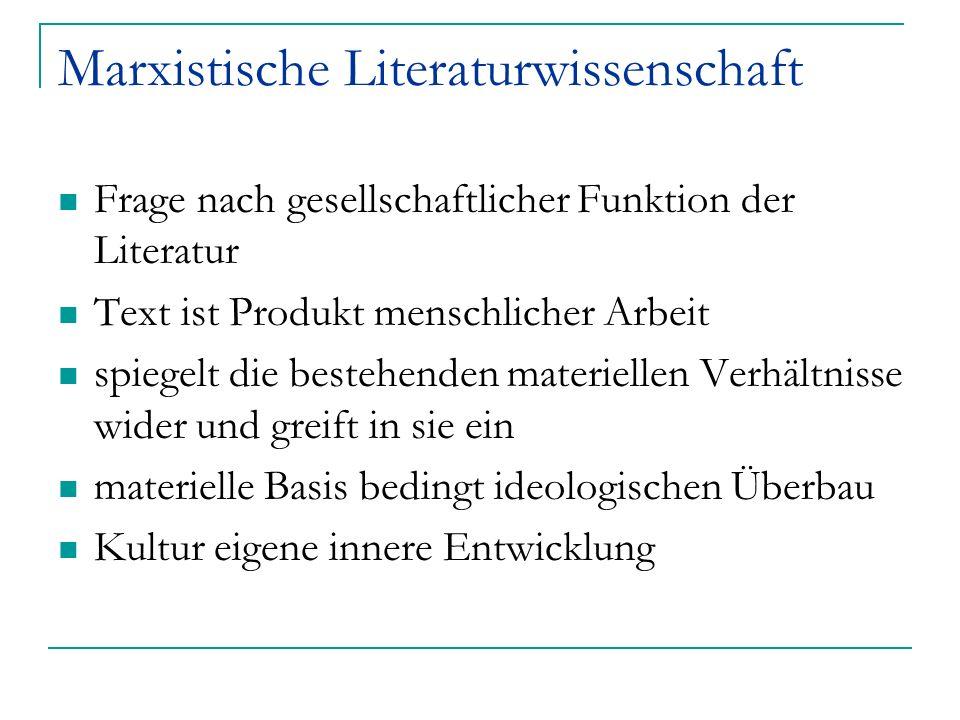 Marxistische Literaturwissenschaft