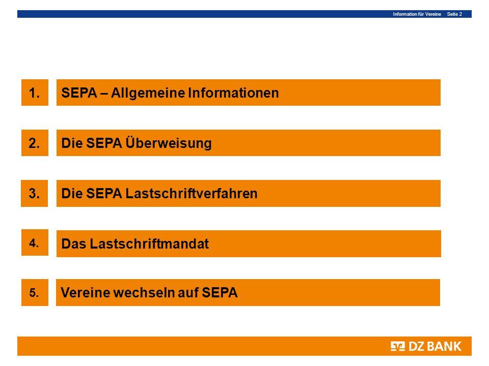SEPA – Allgemeine Informationen