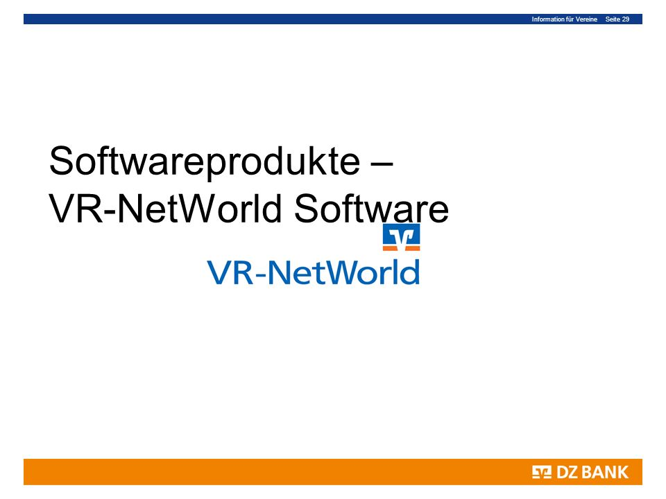 Softwareprodukte – VR-NetWorld Software