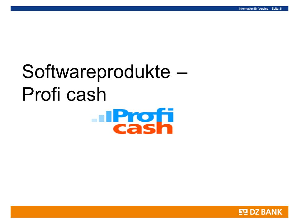 Softwareprodukte – Profi cash