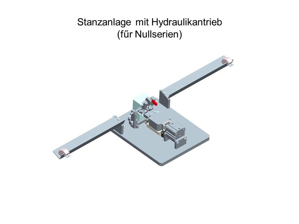 Stanzanlage mit Hydraulikantrieb (fűr Nullserien)
