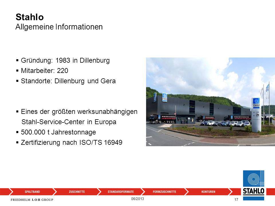 Stahlo Allgemeine Informationen