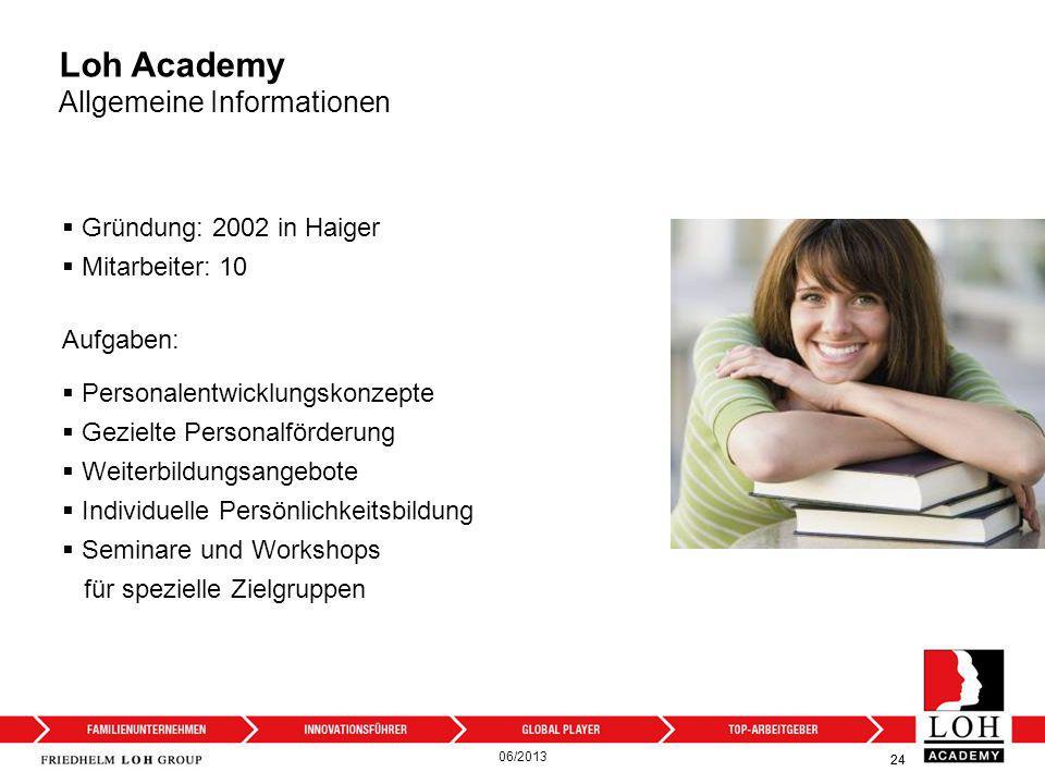 Loh Academy Allgemeine Informationen