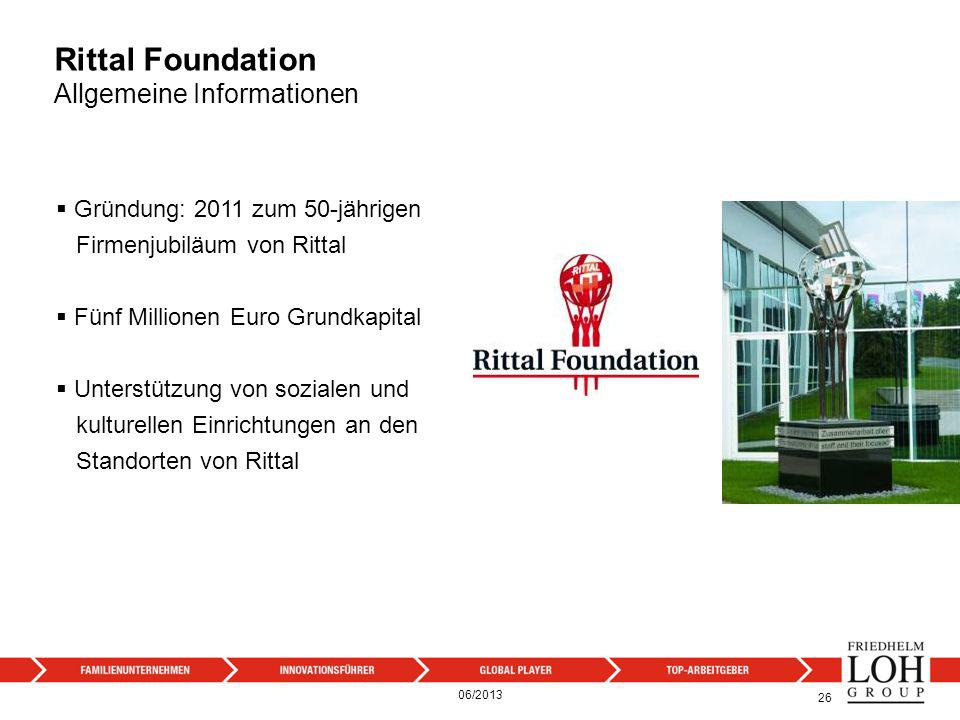 Rittal Foundation Allgemeine Informationen