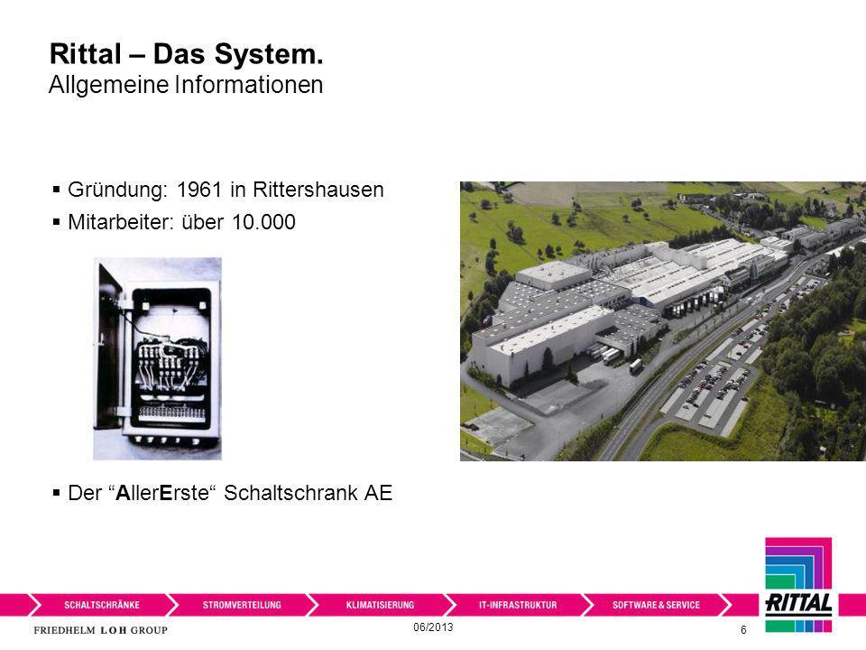 Rittal – Das System. Allgemeine Informationen