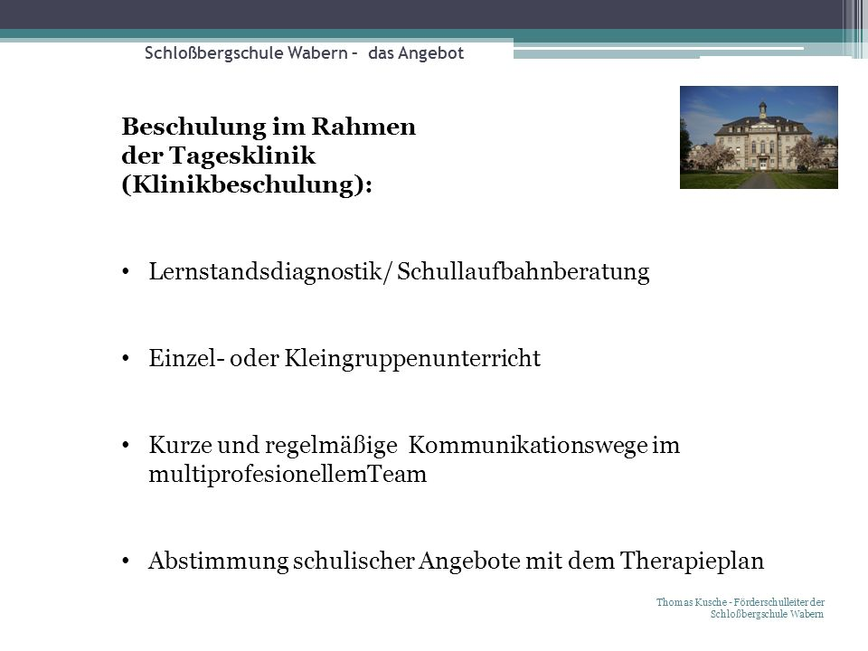 Schloßbergschule Wabern – das Angebot