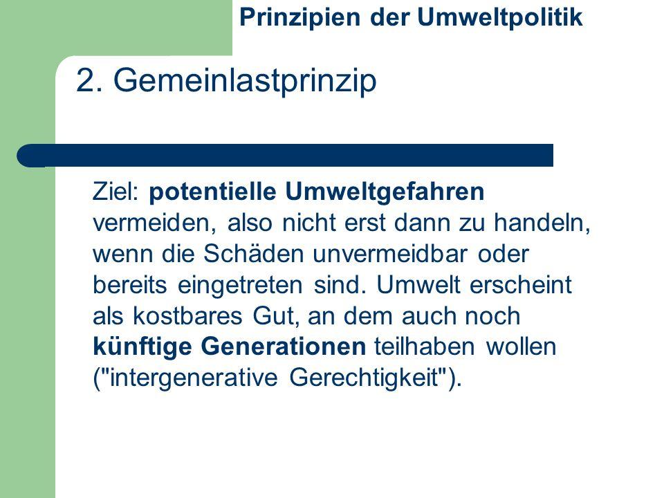 2. Gemeinlastprinzip Prinzipien der Umweltpolitik