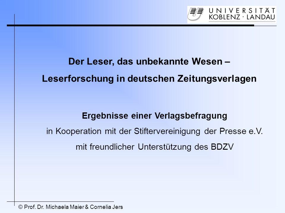 Der Leser, das unbekannte Wesen – Leserforschung in deutschen Zeitungsverlagen