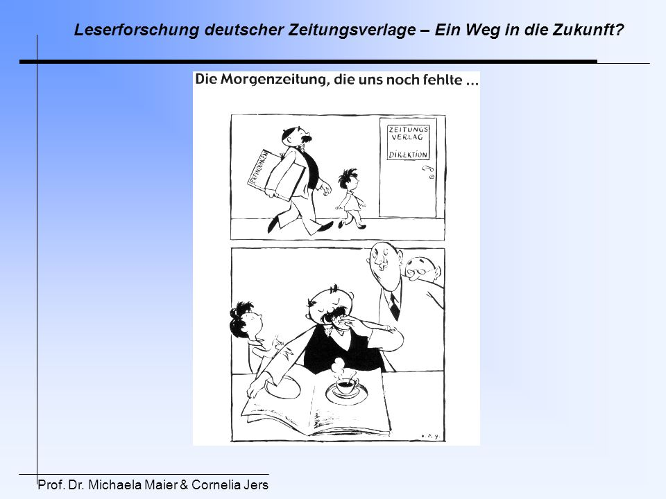 Leserforschung deutscher Zeitungsverlage – Ein Weg in die Zukunft